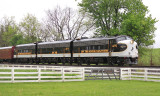 The outbound KY Derby train passes through Vanarsdale Ky