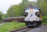 NS 956, the outbound KY Derby train, works hard up the 1.22% grade near Clarks Station Ky