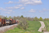 Stack trains meet under the big sky at Waddy