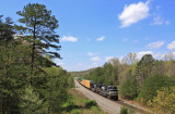 Northbound 224 rolls through the Daniel Boone National Forrest at Parkers Lake