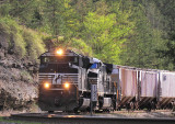 NS 174 running for the law at Parkers Lake...the (hours of service) law would soon win..