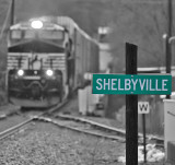 The Derby weekend rain continues to fall as Eastbound 285 comes through Shelbyville