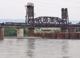 The OCS crosses the TN river at Chattanooga as a steady rain falls