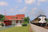 Southbound NS 955 blasts through Spring City TN, passing the old CNO&TP depot