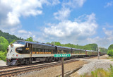 NS 955 under the gathering clouds at Glen Mary on the CNO&TP