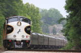 Southbound 955 eases into Burnside KY for a quick crew change
