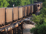 Westbound empties headed back for more black gold from  Indiana