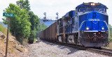 Conrail 8098 leads train 797 North at Palm Ky