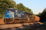 Conrail 8098 in the golden glow of the late evening sun at Shuttleworth KY