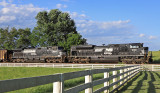 NS 1030 leading train 792 East at Vanarsdale KY