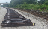 New ties ready for rail between Woods and Pittman creek