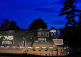 NS 2599, power for the T19 local, sits on the West leg of the wye during the Bluehour