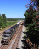Racks on the head and slop freight on the bottom, NS 197 at CP Revilo