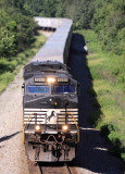 Northbound Triple Crown 264 heads into the morning sun between Wiborg and Cumberland Falls