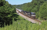 Northbound UPS traffic sprints through Southern KY on train 216 near Parkers Lake Ky