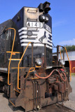 NS GP38AC #4148 tied down in the Shelbyville House Track
