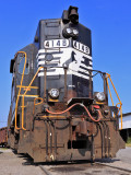 NS 4148, a former N&W GP38AC, tied down for the weekend at Shelbyville