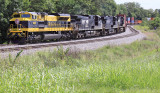 Virginian 1069 brings Westbound 22A through Turtle Tree curve at Waddy, Kentucky