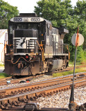 The power for the T-19 local waits out the weekend at Lawrenceburg