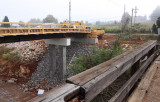 Progress on the new Jones Knob road bridge over the soon to be 2 track mainline