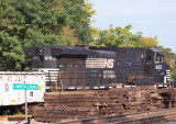 Work Train tied down on the house track at Lawrenceburg
