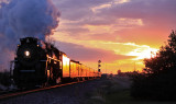 NKP 765 outruns the sunset at Mardenis