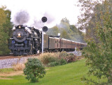 Freshly painted signals shine like new as 765 passes through Buck Creek, Eastbound