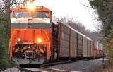 Interstate 8105 leads train 23G East near Mcbrayer, Kentucky