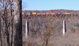 A UP GEVO leads NS 224 North over the New River Bridge