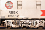 RBBX 63002 (ex UP 6329) is a former baggage car, now used as the rolling maintenance shop