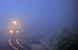 NS I 7 V looms out of the fog at Jones Knob