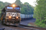 Northbound NS 216 has just crossed into Kentucky, seen here at Strunk just after sunrise