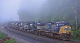 NS I 7 V at Jones knob  with a CSX leader and 15 (former) NS GP38-2's headed back to the leasing compnay