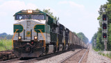 NS57A passes the ugly new signals at CP Gradison with Southern 8099 leading