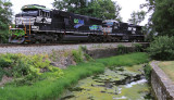 NS 375 at Harrodsburg, KY with GORAIL 6963 leading