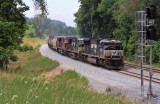 Northbound 115 passes the out of service signals at Jones Knob