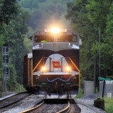 Northbound 124 takes #2 track at Southfork KY
