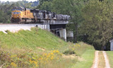 M16 comes across the new Pittman Creek Bridge at Elihu