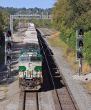 Southern 8099 leads train 111 by the UGLY new signals at South Danville...