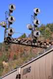 The old signals at Tunnel 26 live out the last Fall they will ever see in service