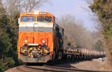 Train 61R rolls down the Salt River bottom near McBrayer, KY