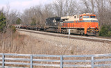 Interstate 8105 leads train 61R at East Waddy, KY