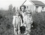 down on the farm - twins and Mom