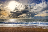 Clouds and surf, Hive Beach, Dorset