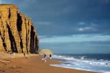 Cliffs, beach and surf, West Bay