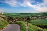 Back road into Preston, Dorset