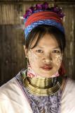 Femme de la  tribue des Kayan