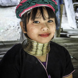 Ttribue des Kayan frontière Birmane