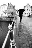Bruges sous la pluie