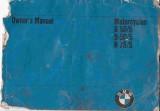 BMW Motorcycle R50/5, R60/5, R75/5 Owner's Manual